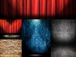 几款幕布舞台背景高清图片素材
