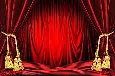 红色舞台晚会幕布背景图片