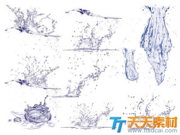 飞溅的水花高清图片素材