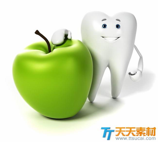 洁白牙齿3d小人高清图片