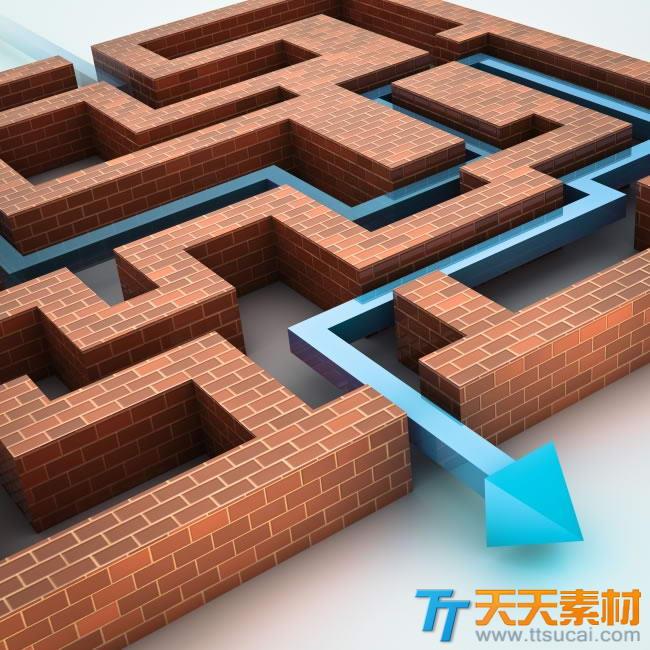 三维立体迷宫设计图片素材