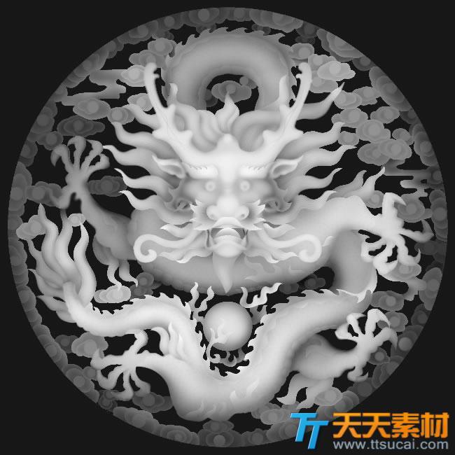 中国传统艺术盘龙模板图片
