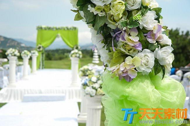 婚礼现场布置图片下载-户外欧式婚礼现场布置高清