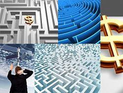 迷失方向迷宫高清图片素材