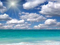 蓝天白云碧海沙滩高清图片素材