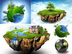 5张绿色环保地球村高清图片