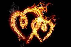 心形火焰高清创意设计图片