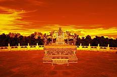 天坛龙椅高清金色背景图片