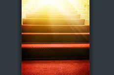台阶耀眼光芒创意图片素材