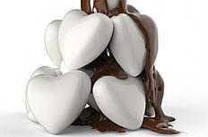 心形巧克力立体创意图片下载