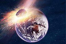 陨石撞击地球世界末日高清图片素材