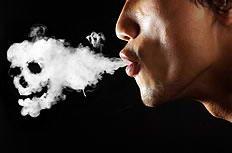 吸烟等于慢性自杀创意广告图片素材