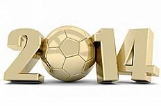 2014足球创意金属字体图片