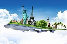 飞机上的旅行创意高清图片素材