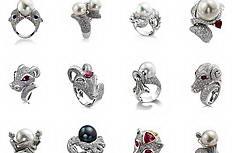 十二星座珍珠戒指图片素材
