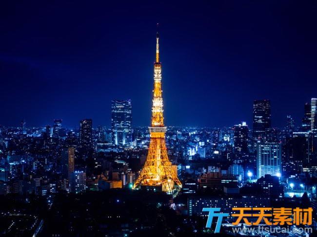 东京铁塔摄影高清图片素材