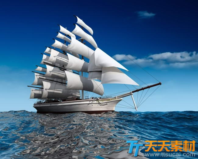 海上帆船的图片素材