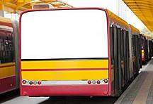 公交车空白广告牌图片下载