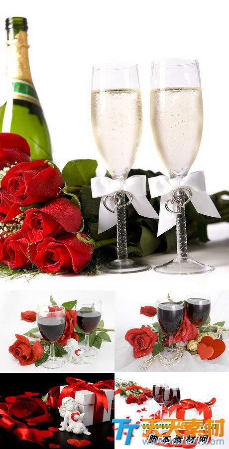 情人节浪漫约会晚餐高清图片素材