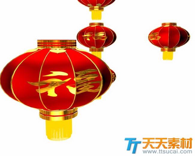 新年大红灯笼高高挂图片素材