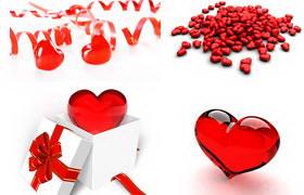 情人节红色爱心大集合高清图片素材