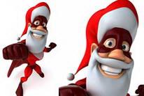 卡通圣诞老人圣诞超人图片素材