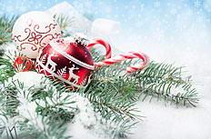 圣诞装饰彩球雪花图片素材