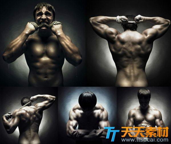 欧美肌肉性感男性高清图片素材