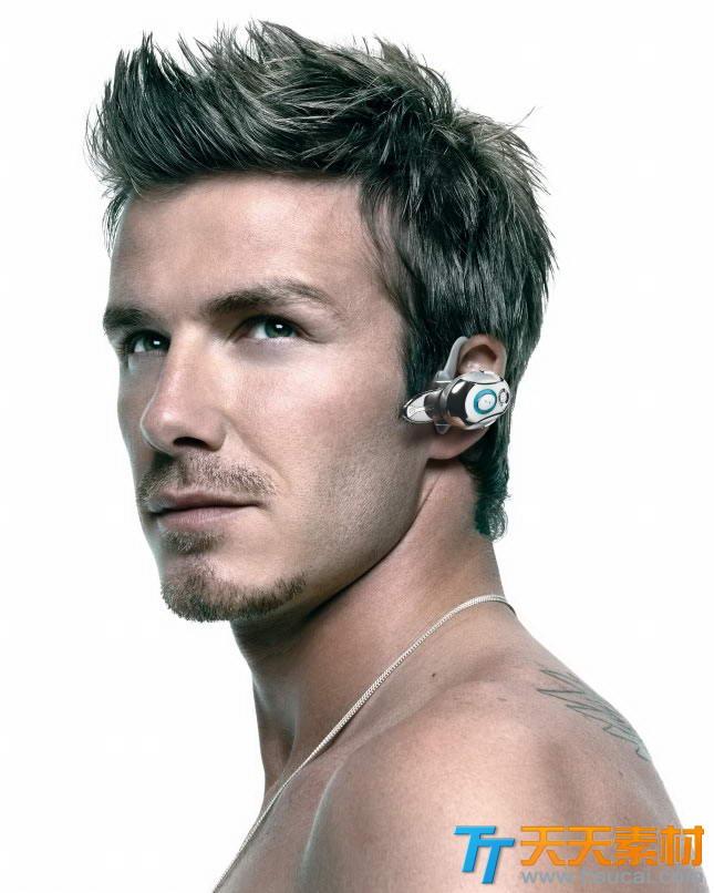 贝克汉姆戴耳机头像高清写真图片