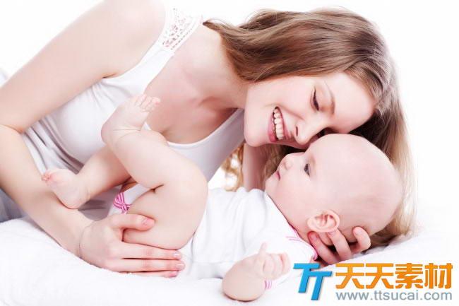 漂亮妈妈可爱宝宝图片素材