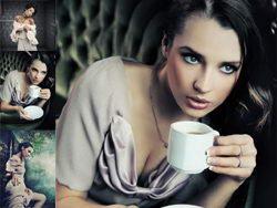 性感成熟美女茶杯诱惑高清图片