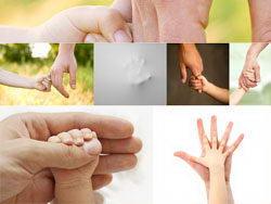 用心呵护的手高清图片