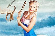 海军装美女图片素材