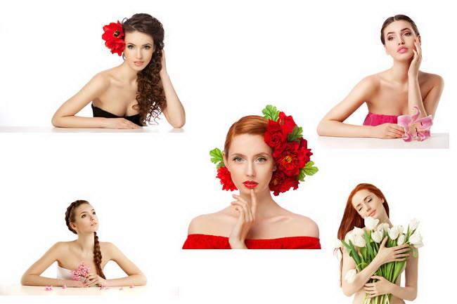 高清浪漫美女靠桌半身像套图下载