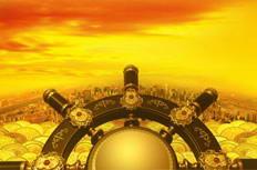 金色船舵高清金融图片素材