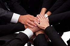 商务团队合作手势图片素材