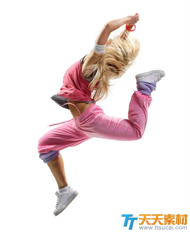 跳街舞的女生高清图片