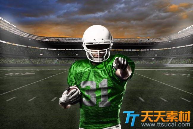 橄榄球运动员图片素材
