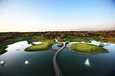 高尔夫球场全景图片