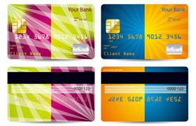 8款鲜艳彩色信用卡会员卡片模板素材