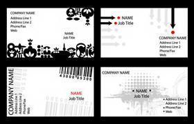 简洁黑白个性名片设计模板