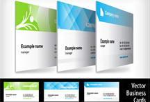 简洁干净的创意设计名片EPS矢量模板素材