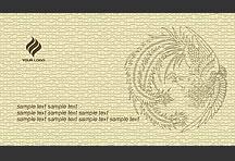 凤鸟皮革纹样名片设计psd模板