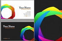色彩概念名片设计模板