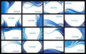 蓝色炫酷名片CDR模板