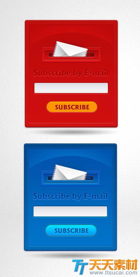 网站邮件订阅注册表单psd素材