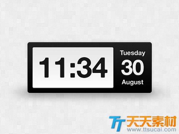 电子时钟UI设计PSD素材