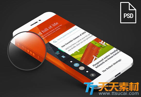 iphone6界面设计模板 苹果iphone6界面设计psd素材