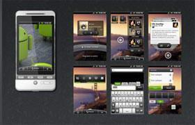 白色安卓手机界面设计全套psd素材