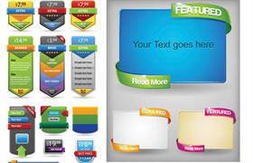 网页促销广告元素设计装饰UI设计素材